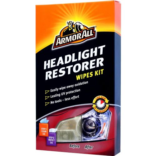 Armor All Car Headlight Restorer Wipes Kit